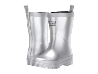 Hatley Classic Rain Boot, Silver Sparkle (Toddler/Little Kid/Big Kid)