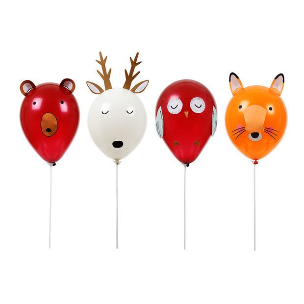 woodland animal balloons