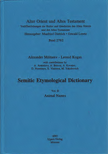 Semitic Etymological Dictionary / Animal Names (AOAT 278/2)