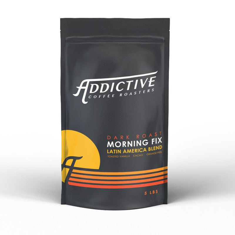 Morning Fix blend by Addictive Coffee Roasters - one of the San Francisco Bay Area's favorite coffee blends