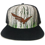 MyLine Aspen Tree Custom Trucker Hat Custom Leather Patches