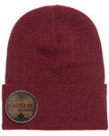 MyLine Branding Personalized beanies maroon leather patch