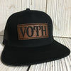 Unique Gift Ideas, Custom Leather Patch Snapback hat