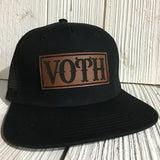 The Original Custom Leather Patch Trucker Hat
