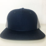 Two Tone Flat Bill Trucker Hat