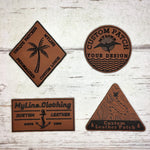 MyLine Custom Patches Laser Etched Leather Patches No Minimums
