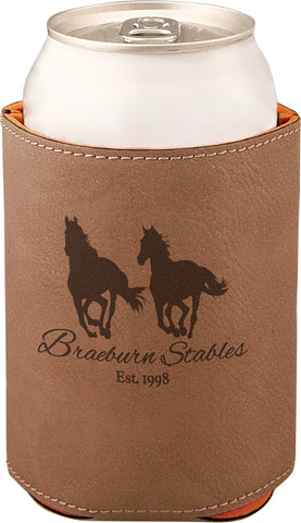 Leather Koozie Beverage Holder