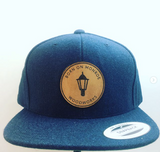 Custom Leather Patch Wool hats navy