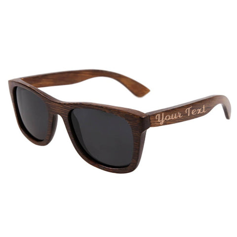 Custom Etched Wood Wayfarer Sunglasses