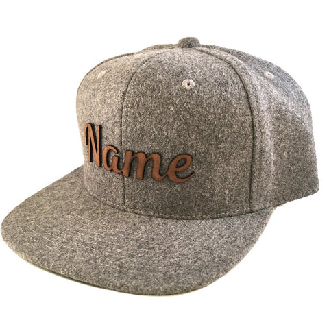 Leather & Wool Snapback Hat
