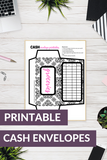 Printable budgeting envelopes for cash envelope budgeting system