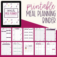 Frugal Meal Planner ONE YEAR MEAL PLAN Recipe Binder Meal Planning Printable