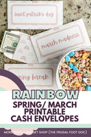 Rainbow (Spring, March) Printable Cash Envelopes