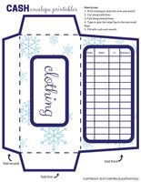 Winter/Christmas Cash Envelope System Printables for Budgeting