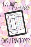 February Cash Envelope System Printables for Budgeting