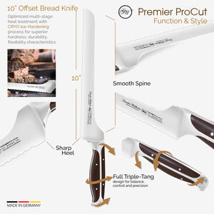 10-inch Offset Bread Knife, Premier ProCut, 30-318-1510