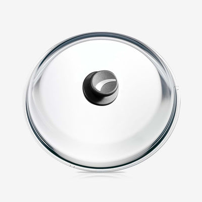 Glass Lid with Knob, stainless Steel Insert, Ø 32cm / 12.6