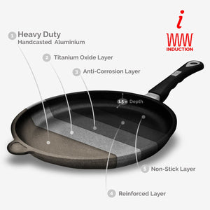 "ProCook, Non-stick Tossing pan (Ø 28cm/11"") w/Ergonomic handle, Induction Ready 80-800-0428i"