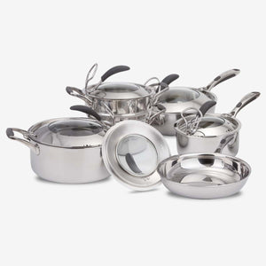 11-Pieces 5PLY Stainless Steel Cookware System