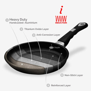 "ProCook, Non-stick Tossing pan (Ø 20cm/7.87"") w/Ergonomic handle, Induction Ready 80-800-0420i"