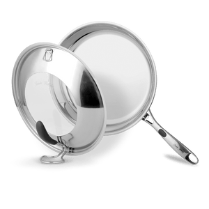"9.5"" Stainless Steel 5PLY Fry Pan with patented lid"