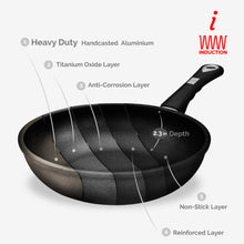 "ProCook, Non-stick Sauteuse/mini-Wok (Ø 24cm/9.45"") w/Ergonomic handle, Induction Ready 80-800-0624i"