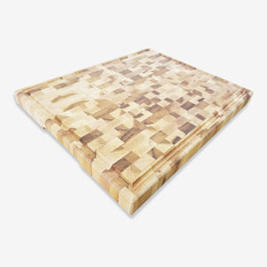 "Grooved Square Canadian maple butcher block w/recessed handles 16""x20""x1-1/2"", 98-944-16206"