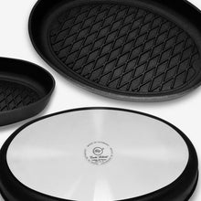 "ProCook, Non-stick Fish Grill / Steak BBQ pan (oval 24x35cm /9.45x13.78"") w/Ergonomic handle, 80-BBQ-3524"