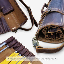 Leather Knife Bag Brown