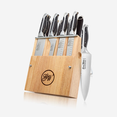 11-Piece Cutlery Knife Set, Executive Chef Series II, Black ABS Handle,2140