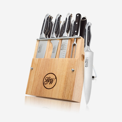 12-Piece Cutlery knife set, Executive Chef Series II, Black ABS Handle, 2150