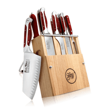10 Pieces Cutlery knife set, Executive Chef Series II, Reddish ABS, 2730