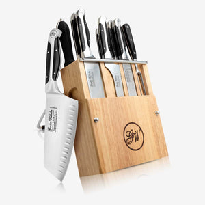 11 Piece Modular Cutlery Knife Set, Executive Chef Series II, Black ABS, 2101