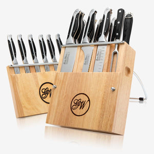 19 Piece Modular Cutlery Knife Set, Executive Chef Series II, Black ABS Handles, 2151