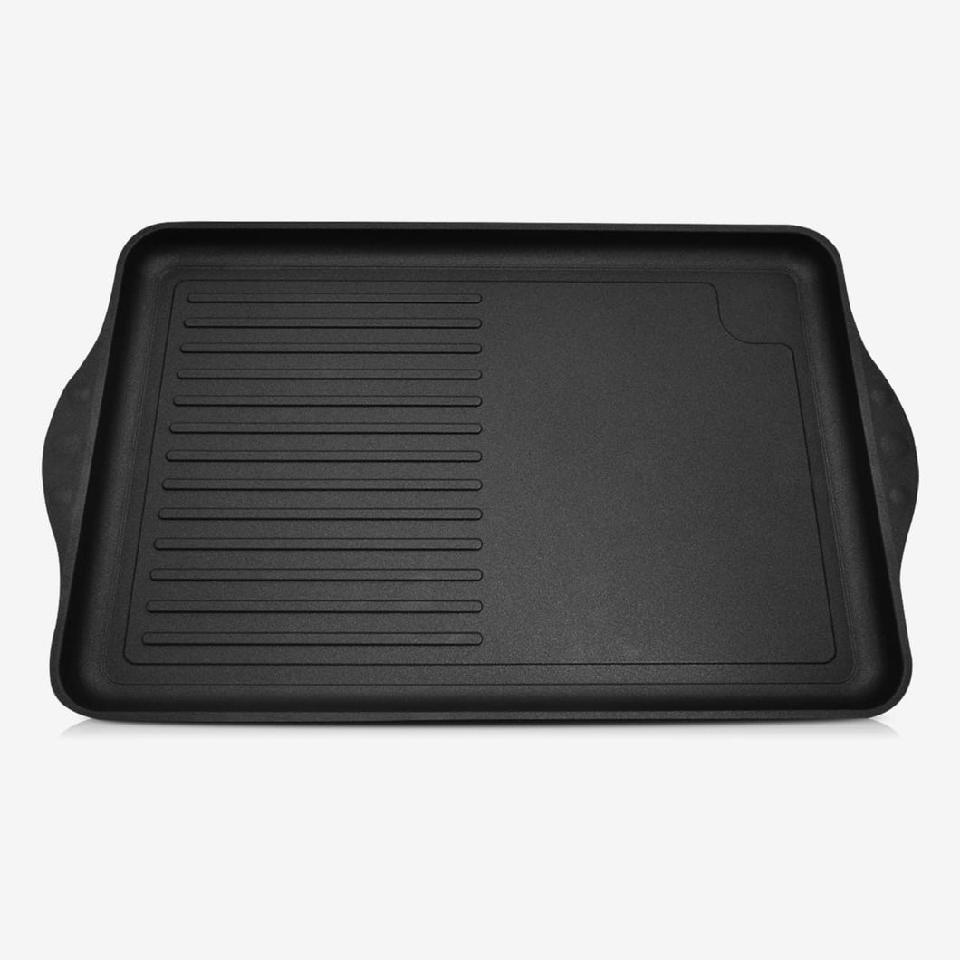 ProCook, Non-stick Grill Griddle (1/2 grill, 1/2 smooth surface) 43x28x2cm /16.9x11x0.79-inch , 8280