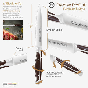 5-inch Serrated Utility/Steak Knife, Premier ProCut, 30-313-1105