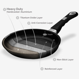 "ProCook, Non-stick Tossing pan (Ø 20cm/7.87"") w/Ergonomic handle, 80-800-0420"