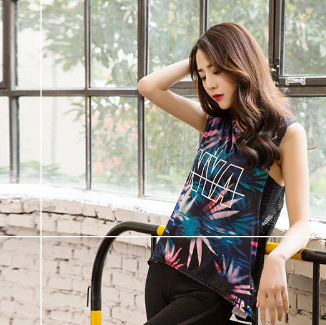 Printed Women Shirt Yoga Top Quick-Dry Running Shirt Tops Breathable Sports - Deluxefitness