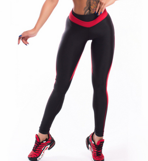 Red Heart Shape Womens Leggings Tights - Deluxefitness