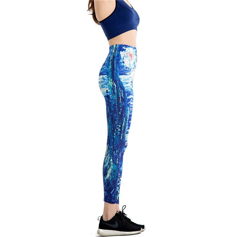 Funny Print Sports Leggins Fitness From Cartoon - Deluxefitness