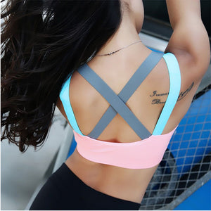 Sexy HOT SALE!  Yoga Push Up Sports Bra for Womens Gym Yoga Bra Running Padded Brassiere Sport Fitness Top Tank Vest Shockproof Sport Bra Top - Deluxefitness