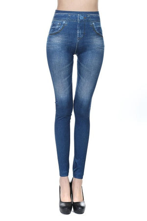 Hot Jeans for Women Denim Slim Leggings Sport Tights - Deluxefitness