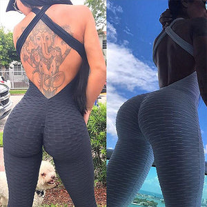 Fitness Women's Backless Jumpsuit - Deluxefitness