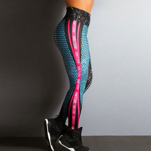 Geometric Lines Womens Fitness Leggings Sport Tights - Deluxefitness