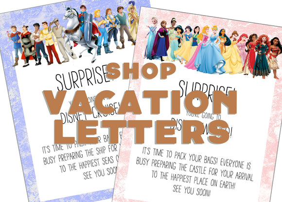 Shop Vacation Letters