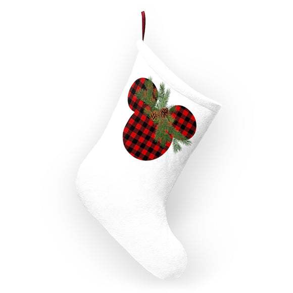 Rustic Mickey Christmas Stocking, Holiday Sock, Mantle, Disney Christmas Decor, Epcot Gift, Epcot Decor
