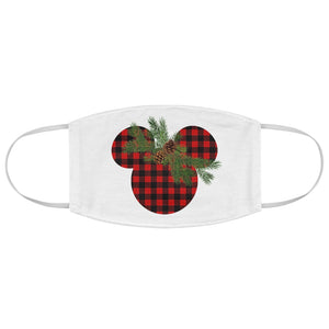 Buffalo Plaid Mickey Face Mask