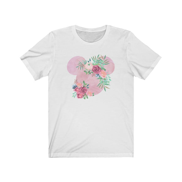 Pink Floral Mickey Shirt