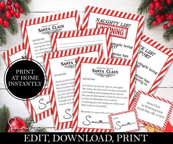 Letter From Santa Bundle, EDITABLE