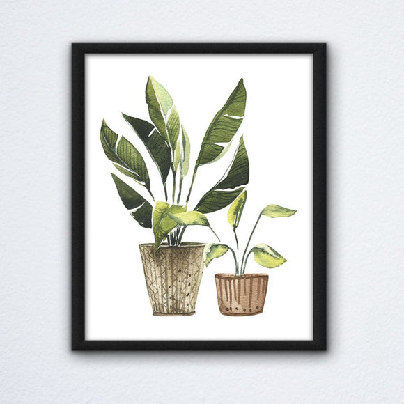 Potted Plants Wall Art